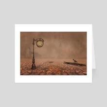 Behind time - Art Card by Geraldas Galinauskas