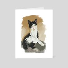 Shelter Cat #5 - Art Card by Devon Rubin