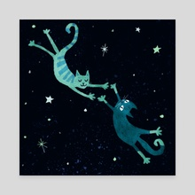 Lovecats - Canvas by Maria Ku