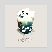 Cat drink 02 - Canvas by Nadia Kim