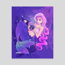 Mermaid Gamer - Canvas by Aly Jones