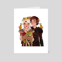 Astrid & Hiccup - Art Card by Anna Rosenkrans Birkedal