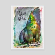 Piano Bear - Canvas by Guga Schultze