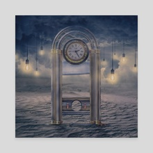 Guillotine clock - Canvas by Jared Sandoval