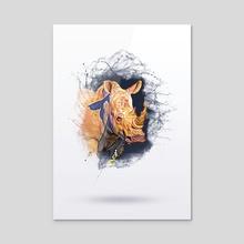 RHINO   ANIMALS SERIES - Acrylic by Archie Andarski