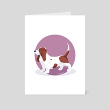 Basset hound - Art Card by Birgitte Johnsen