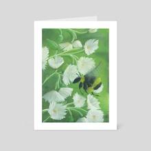 Bumblebee at Work - Art Card by Pastel Leaf
