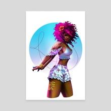 Lady Cinnamon - Canvas by Kori Thompson