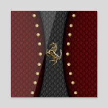 Prancing Horse (Golden) - Acrylic by Vidka Art