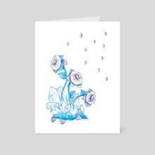 Crystal Flowers - Art Card by Kat Albert