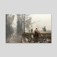 1863 - they feed and defend - Acrylic by Jakub Różalski