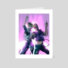 Karaoke Night - Art Card by Wild Shadow