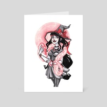 Witchy Rose - Art Card by Amanda Blatch
