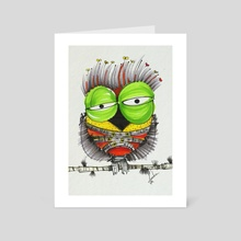 THe HaPpy, iN loVE, nOSTAlgic, sAD owLs (6) - Art Card by Jorge Mendoza