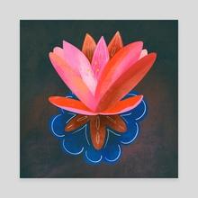 Lotus - Canvas by Debbie Sajnani