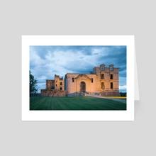 Bidache Castle / Bask Country - Art Card by Thierry Dulau