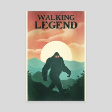 Walking Legend - Canvas by Jonathan Dodd