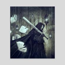 Sword And Citadel - Canvas by Dark Crayon