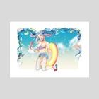 Summer Miku - Art Print by Lydia Baek