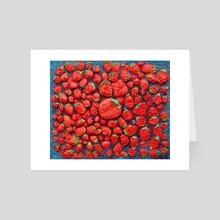 strawberry heaven - Art Card by Kristian Leov