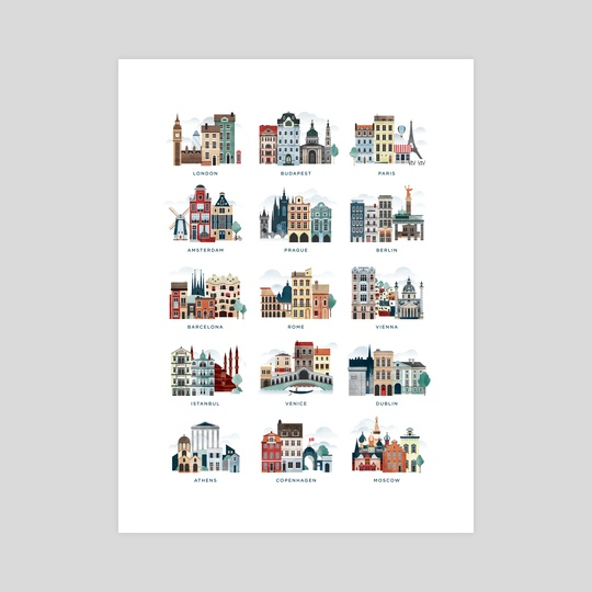 European Cities by Nicholas Matej