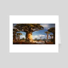 Tree House  - Art Card by Donglu Yu