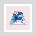 Deep Sea Mousse Cake - Art Print by Teri Sky