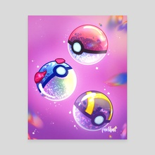 Aesthetic Pokeballs - Canvas by Aly Jones