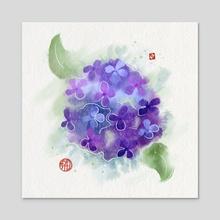 Hydrangea - Acrylic by Kim Z.