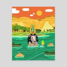Khnum - Canvas by Vivvian