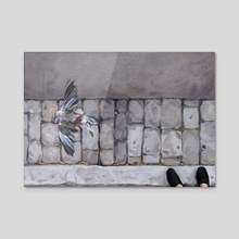 Mr Pigeon - Acrylic by Alexandre Clair