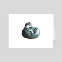 Otters - Art Card by Sarah Hawkinson-Patil