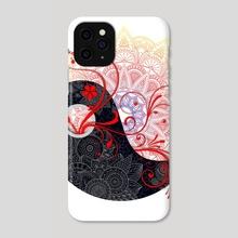 Mandala - Yang - Phone Case by Alexandre Ibáñez