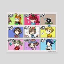 Persona 5 Birthday chart - Canvas by goro_orb