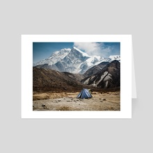 Himalayan camp - Art Card by Brent Olson