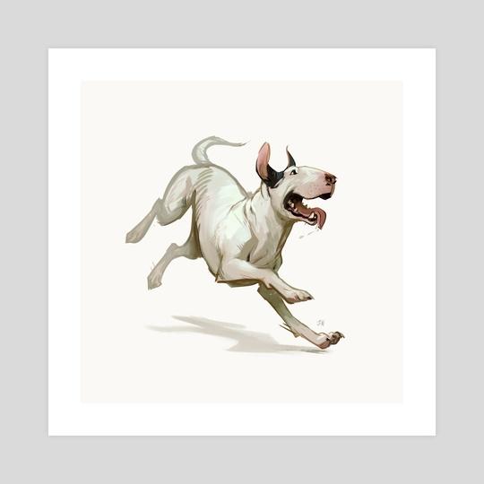 Bull Terrier by Jonathan Wesslund