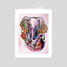 Fatima Elephant - Art Card by Hannah Maria