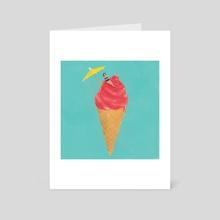 Ice-cream - Art Card by Lucia Calfapietra