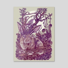 Rabbit Horns - Acrylic by Ahmad Mujib