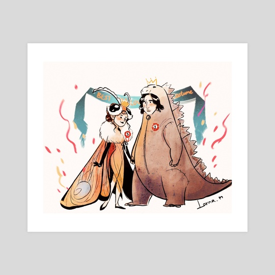 reylo-godzilla&mothra by Lorna Moose