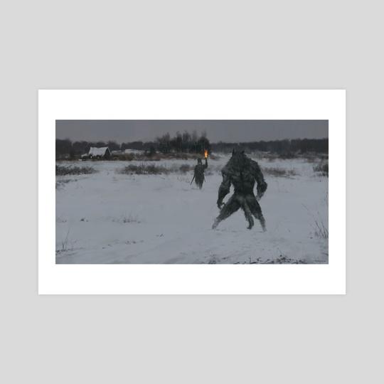 hunting at night by Jakub Różalski