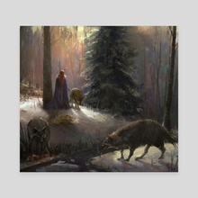 Forest Priest - Canvas by Nacho Yague