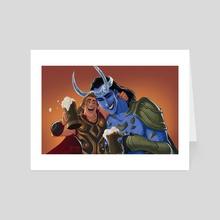 Bros - Art Card by CherryGarcia