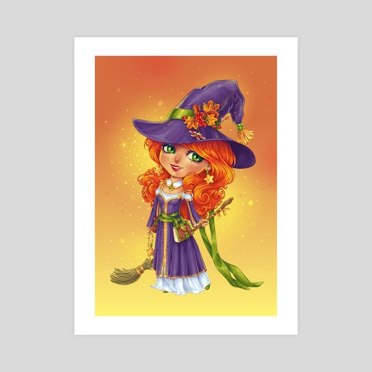 Halloween Witch Chibi by Maria Dimova