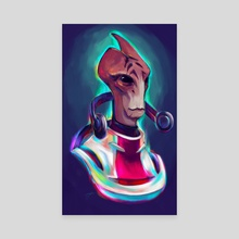 Neon Mordin... Had to be him - Canvas by Shaya Fury