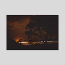 Night Time Scenery - Canvas by Abbie Zeek