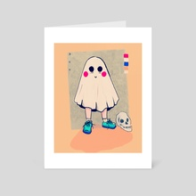 ghost boy - Art Card by Riya  Roberts