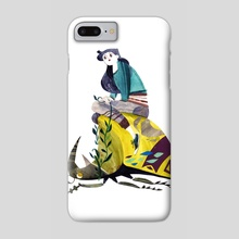 Beetle-Rider no. 1 - Phone Case by Meg Hunt