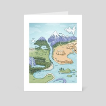Nostalgia Geography Map - Art Card by Kaelyn Richards