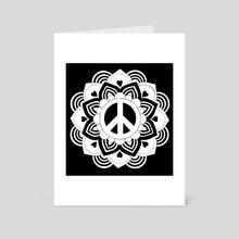 Peace and Love Mandala 4 - Art Card by Emii Emilova